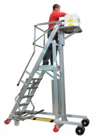 Platformtrap met electrisch aangedreven lift tot 100 kg draagvermogen in diversen hoogtes
