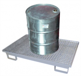Stalen badkuip voor de afvoer van 1 vat, gegalvaniseerd