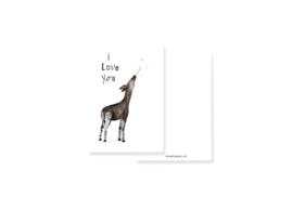 minikaartje I love you Okapi | per 5