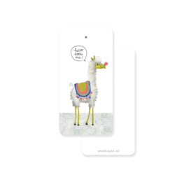Label alpaca 'Hello little one' - per 20 stuks