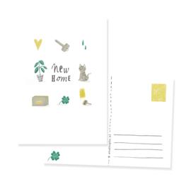 ansichtkaartje new home | per 5 stuks
