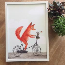 poster vos op fiets -A4