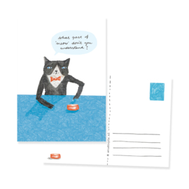 postcard cat meow | per 5