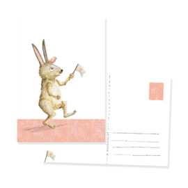 postcard crazy rabbit | per 5