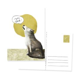 postkaart wolf; 'You rock!' | per 5