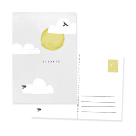 originele condoleancekaart 'sterkte' | per 5