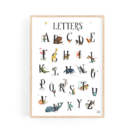 poster  dierenalfabet LETTERS - A4 | per 5