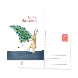 ansichtkaartje harey christmas | per 5