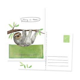 postkaartje met lieve luiaard | per 5
