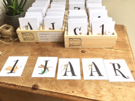 STARTERSKIT letterkaartjes voor naamslingers