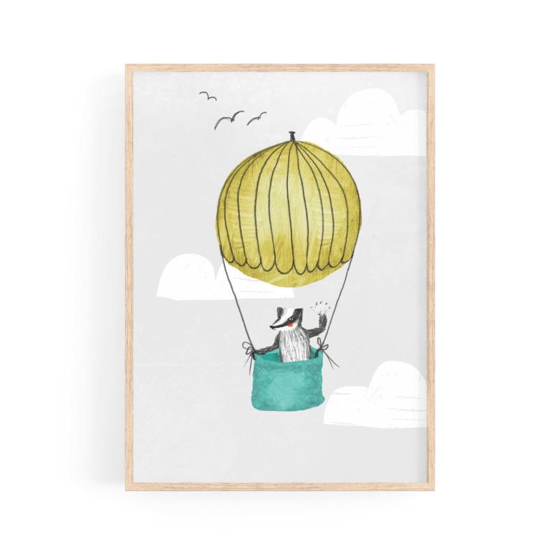poster das in luchtballon -A4