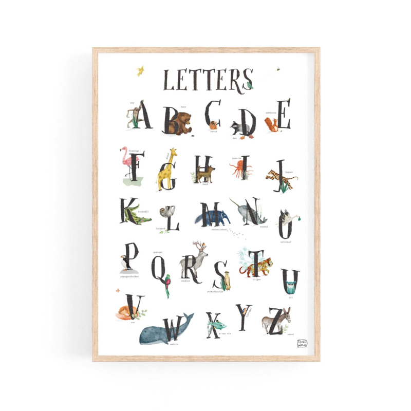 poster  dierenalfabet LETTERS - A3 | per 5
