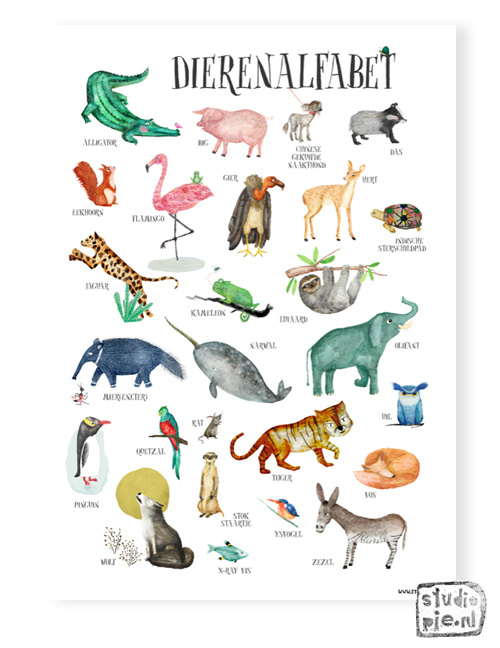 A2 poster Animal ABC