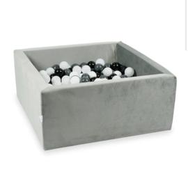 Ballenbad VELVET GREY 90x90x40 cm incl. 300 ballen