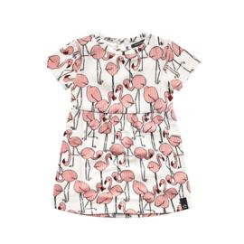 Flamingo pleated dress