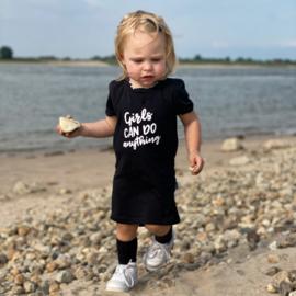 T SHIRT DRESS - GIRLS CAN DO