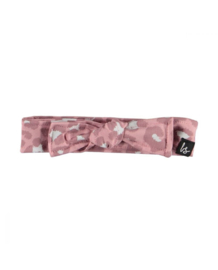 Leopard haarbandje (roze) (large print) BS
