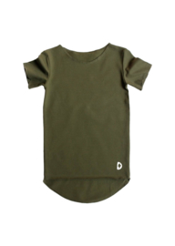 Kleine deugnieten  - Effen t shirt  hunter green