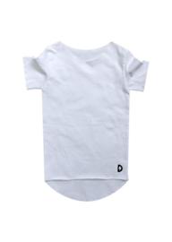 Kleine deugnieten  - Effen t shirt wit