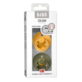 BIBS - FOPSPEEN NATUURRUBBER - BLISTER HONEYBEE/OLIVE T2