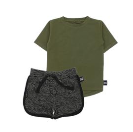 ZEBRA GREEN SHORT - HUNTER GREEN T SHIRT