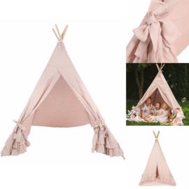 Linnen Tipi Tent Oudroze XL