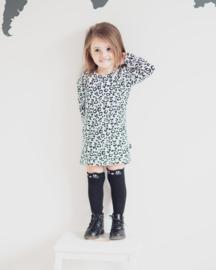 Longsleeve dress - Leopard Wit
