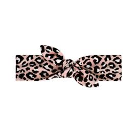 Leopard pink headband mini
