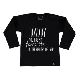 Favorite daddy longsleeve shirt Zwart/Wit BS