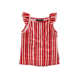 Pink stripes Ruffle singlet
