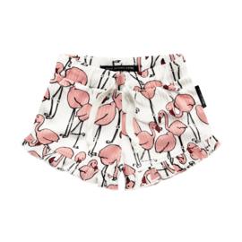 Flamingo Ruffle shorts