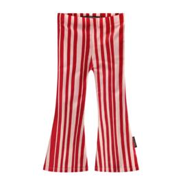 Pink stripes flared legging