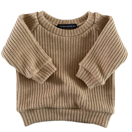 OVERSIZED SWEATER - KNIT TAUPE