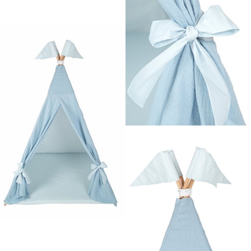 Tipi tent Cotton/Muslin M incl. speelmat
