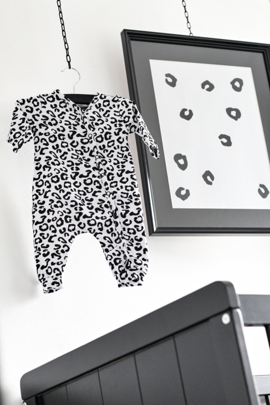 BOXPAKJE - Baby collectie - LEOPARD ZWART WIT