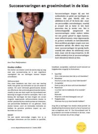 Succeservaringen en groeimindset in de klas