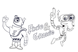 Colouring picture Fixie & Growie