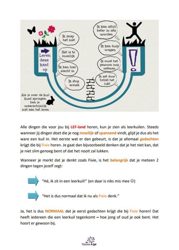 Nieuwe les 7 Werkboek Mindset