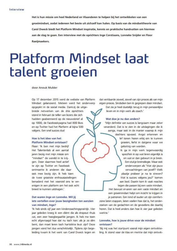 Platform Mindset laat talent groeien