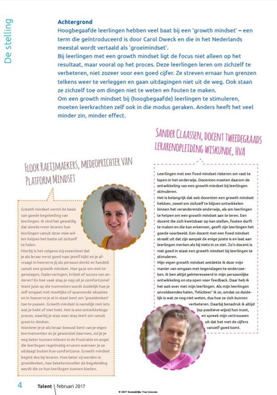 Stelling Mindset Tijdschrift Talent