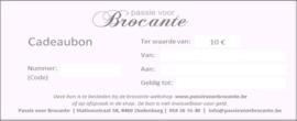 Cadeaubon met waarde naar keuze tussen de 10 EUR en 100 EUR