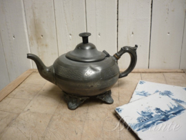Charming pewter tea pot