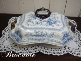 Zeer mooie Engelse groentenschotel, Stoneware j.r. troubadour