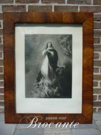 Antieke gravure De  onbevlekte ontvangenis - Immaculee Conception