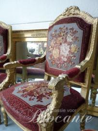 Paar imposante zetels in Louis XIV stijl, epoque Napoleon III