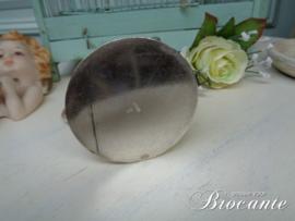Mooi verzilverde melkkan met opschrift St Libastine