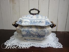 Zeer mooie Engelse soepkom, Stoneware j.r. troubadour