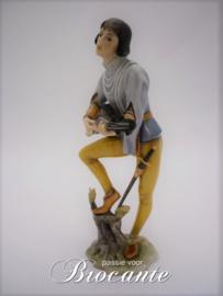 Mooi vintage porselein beeldje - De muzikant - Bavaria West-Duits