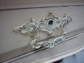 Mooi brocante lavabo meubel in Louis XV stijl