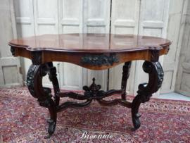Antieke spinpoottafel Louis Philippe - palissander en mahonie